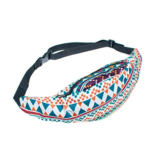Bath Case Pack - Pocciol Fanny Pack Secure Adjustable Travel Case Belt Sport Pouch Waist Bag (B)