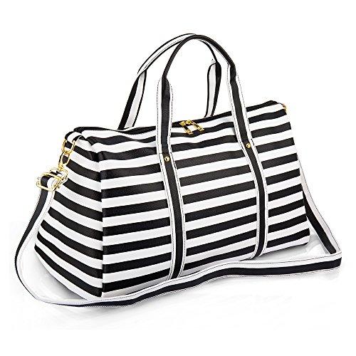 Women Waterproof Weekender Bag,AIZBO PU Leather Overnight Weekend Bag...