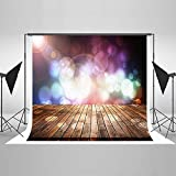 Photography Backdrop 5 x 7 Wood Floor Background Cloth Bright Ligting Halo Party Photo Backdrop Kids