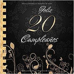 Feliz 20 Cumpleaños: Libro de Visitas I Elegante ...