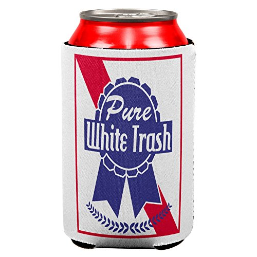 - Old Glory 4th of July Pure White Trash All Over Can Cooler