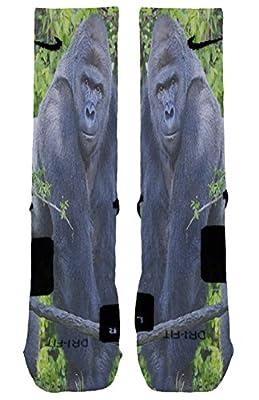Harambe Custom Designed Nike Elite Socks