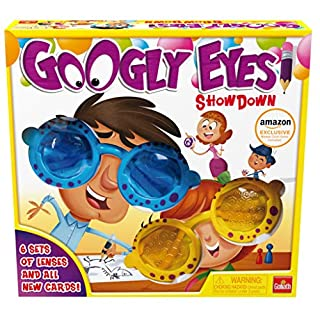 Goliath Googly Eyes Showdown - Family Drawing Game with Crazy, Vision-Altering Glasses - Includes A Fun Burger Party Card Game