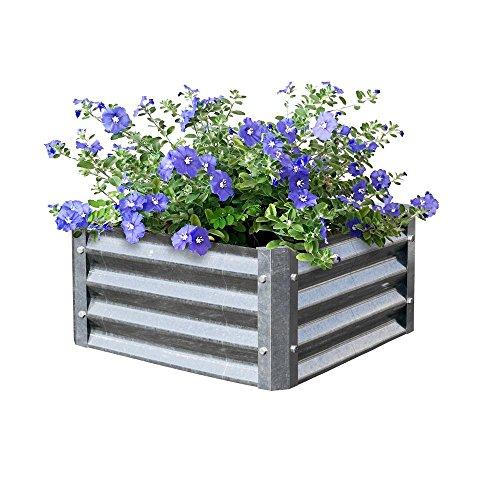 - EarthMark MGB-L021 Bajo Series 22 x 22 x 10 in. Square Galvanized Metal Planter