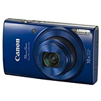 Canon PowerShot ELPH 190 IS Digital Camera (Blue) + Transcend 32GB Memory Card + Camera Case + USB Card Reader + Screen Protectors + Memory Card Wallet + Cleaning Pen + Great Value Accessory Bundle by Canon