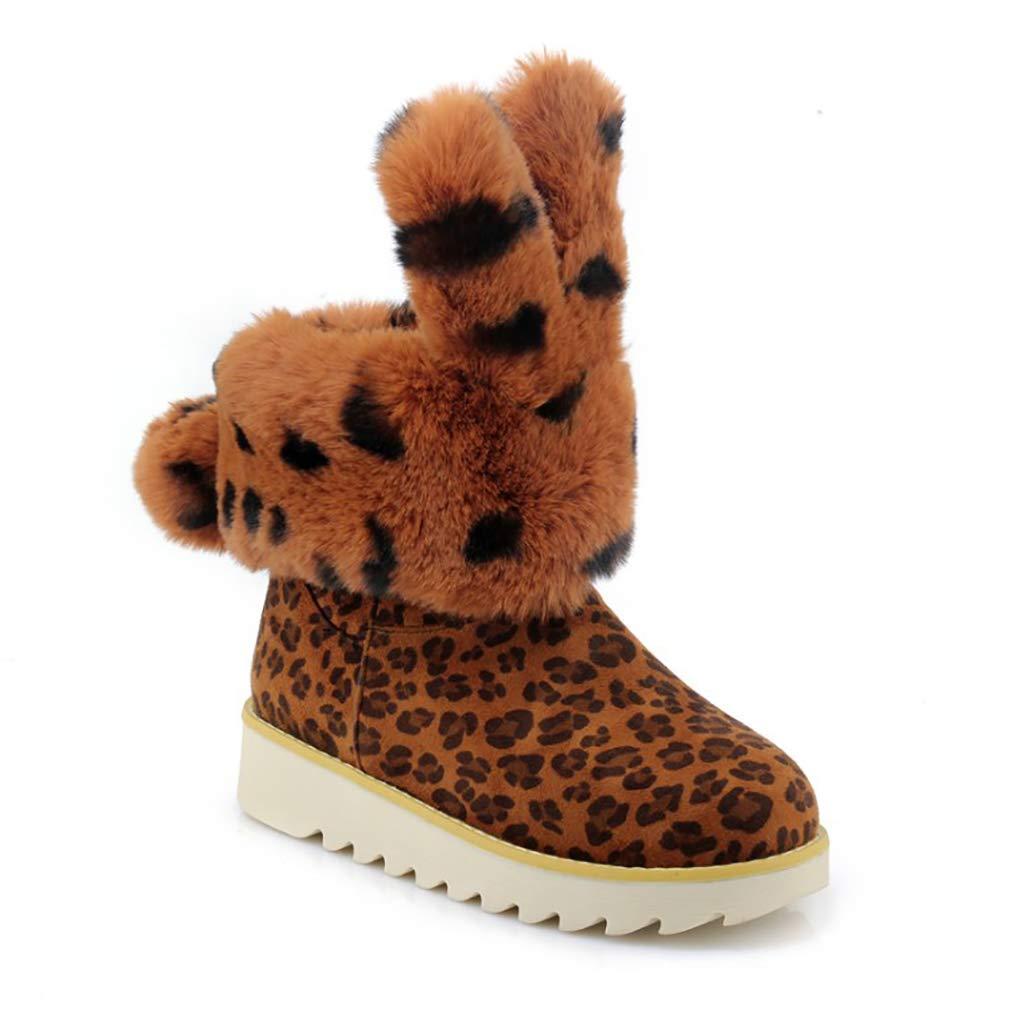 Hy Frauen Stiefelies Wildleder Winter dicken Boden Schneeschuhe Low Top Casual Winter Stiefel Damen Große Größe Plus Thick Outdoor Ski Schuhe (Farbe   EIN Größe   35)