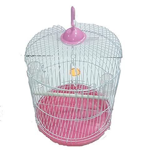 Jaula redonda con accesorios para pájaros Canarios Periquitos de ...