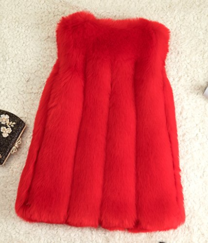 Rivestimento Del Rosso Inverno Folobe Cappotto Della Donne Delle Pelliccia Faux Di Womens HqwOnSg