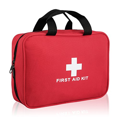 Basic Boat (Portable Basic First Aid Kit -100 Pieces - CE FDA Approved Survival Supplies for Home, Office, Car, Travle, Outdoors Emergency Preparedness)