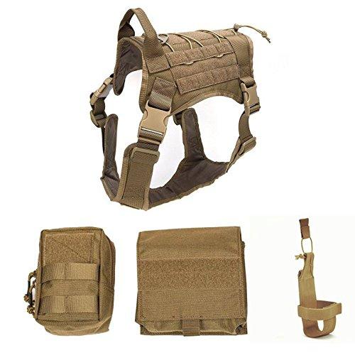 Dog Vest Harnesses, Comfortable Adjustable Detachable Waterproof Training Dog Vest for Large Dog