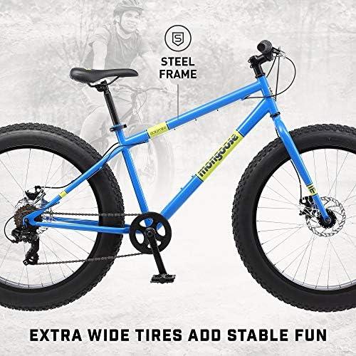 "NEW 26/"" 4/""W Fat Tire Mountain Bike 21-Speed Bicycle High-Tensile Steel Frame AA"