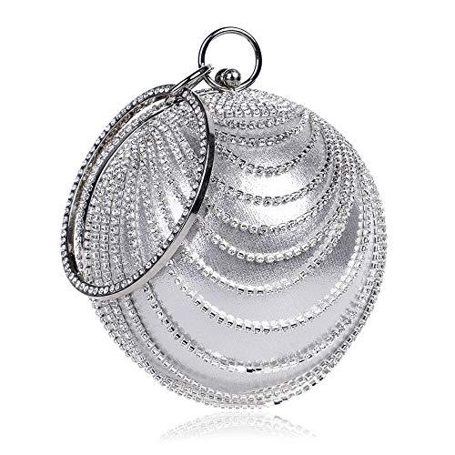 Diamond Hot Party Bag Bag Tassel Silver Banquet Bag Evening GROSSARTIG Dinner Dress PdUwAUq