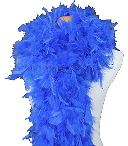 Cynthia's Feathers 80g Chandelle Feather Boa (Royal Blue) Flapper Boa