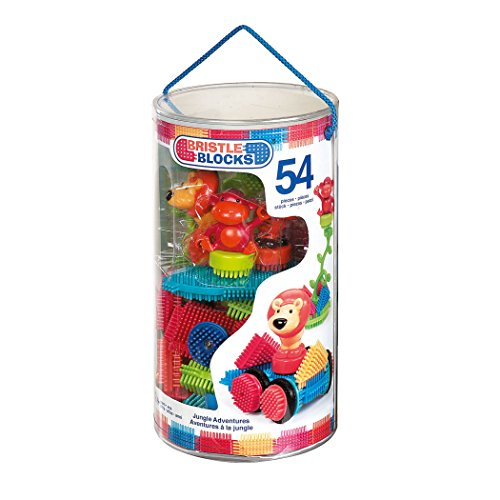 516ZiT UFfL - BRISTLE BLOCKS By BATTAT Bristle Blocks Toy Building Blocks for Toddlers (54 pieces)