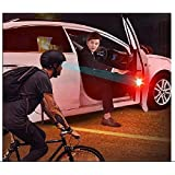 QAWACHH Universal Wireless Waterproof Car Door 5 LED Opened Warning Flash Light,Red(2Pairs 4Pcs)