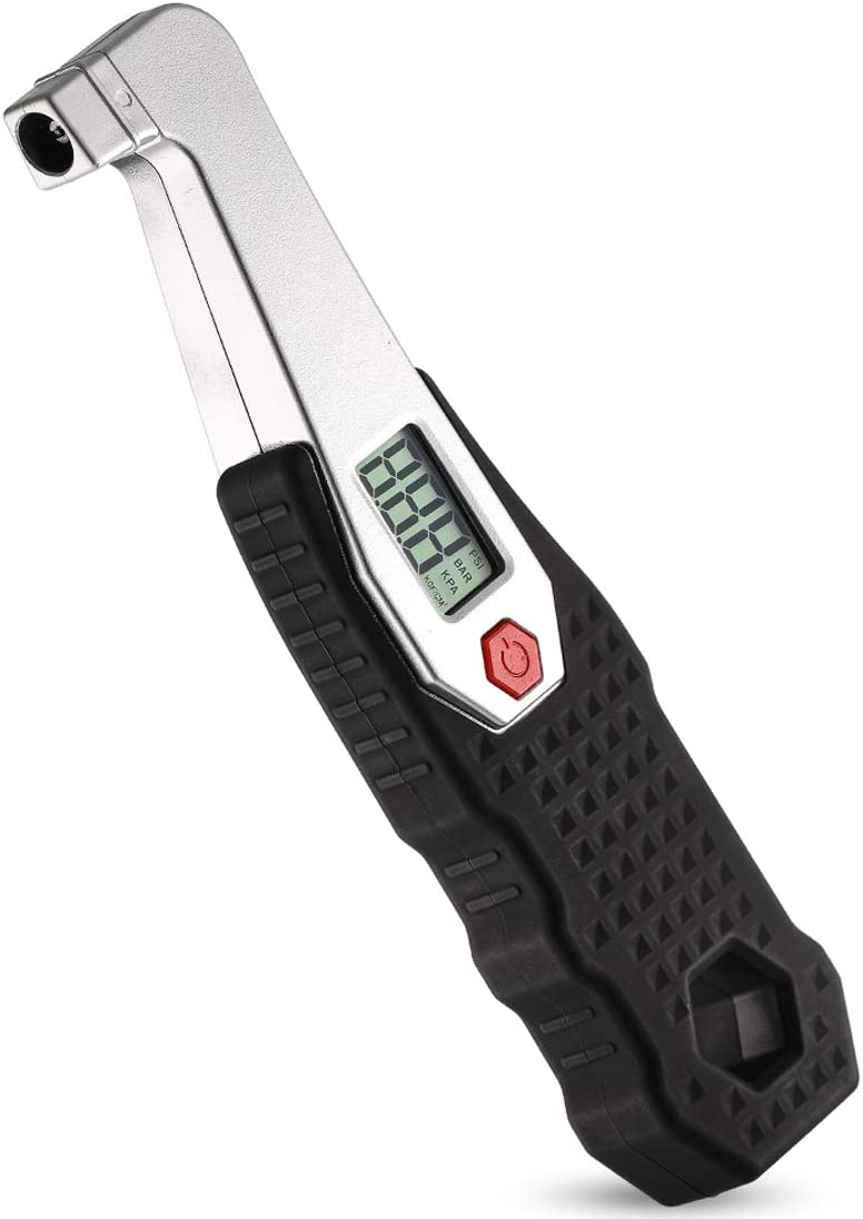 Non-Slip Grip CZC AUTO Digital Tire Pressure Gauge Reader Checker 2 Settings Accurate Digital PSI Tire Gauge with LCD Display for RV Car Truck Bicycle Motorcycle 0-100 PSI