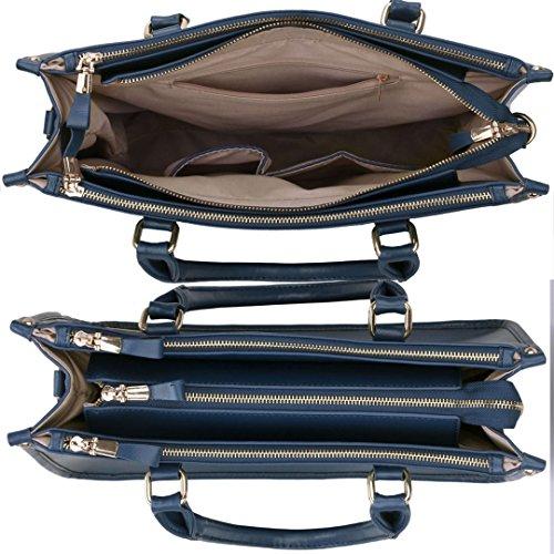 LEESUN LONDON - Bolsa mujer, color negro, talla Large Marina De
