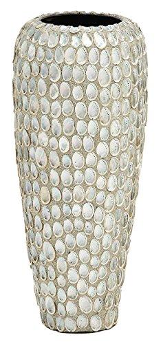 Benzara Unique Patterned Ceramic Sea Shell Vase