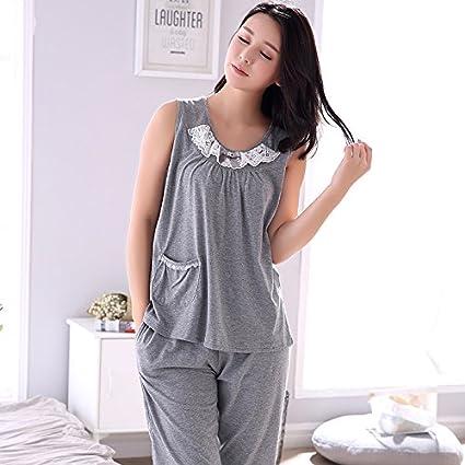 MH-RITA Plus Size M-4XL 100% Algodón Mujer Pijama conjunto floral pequeño