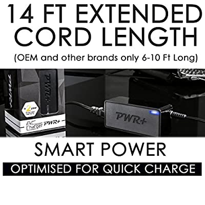 Pwr+ 19.5V 14 Ft EXTRA LONG LG Electronics TV Charger 34UC98 29UM68-P 29UM58-P 27UD68-W 27UD68-P 25UM65 25UM57 25UM58 24MP58VQ-P 23MP65HQ 23EA63V 23MP65HQ-P 23EA63V-P IPS237L IPS277L 32LH570B 27EA33V 27MP65HQ-P 27MP65HQ 22EN33S-B; ADS-40FSG-19 ADS-40SG-19