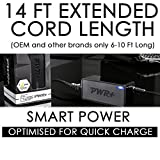 Pwr+ Extra Long 14 Ft AC Adapter Wall Charger for Bose Soundlink I, II, III, 1, 2, 3 Portable Speaker 10 306386-101 301141 404600 414255 Power Supply Cord: (Check Compatibility Photo)
