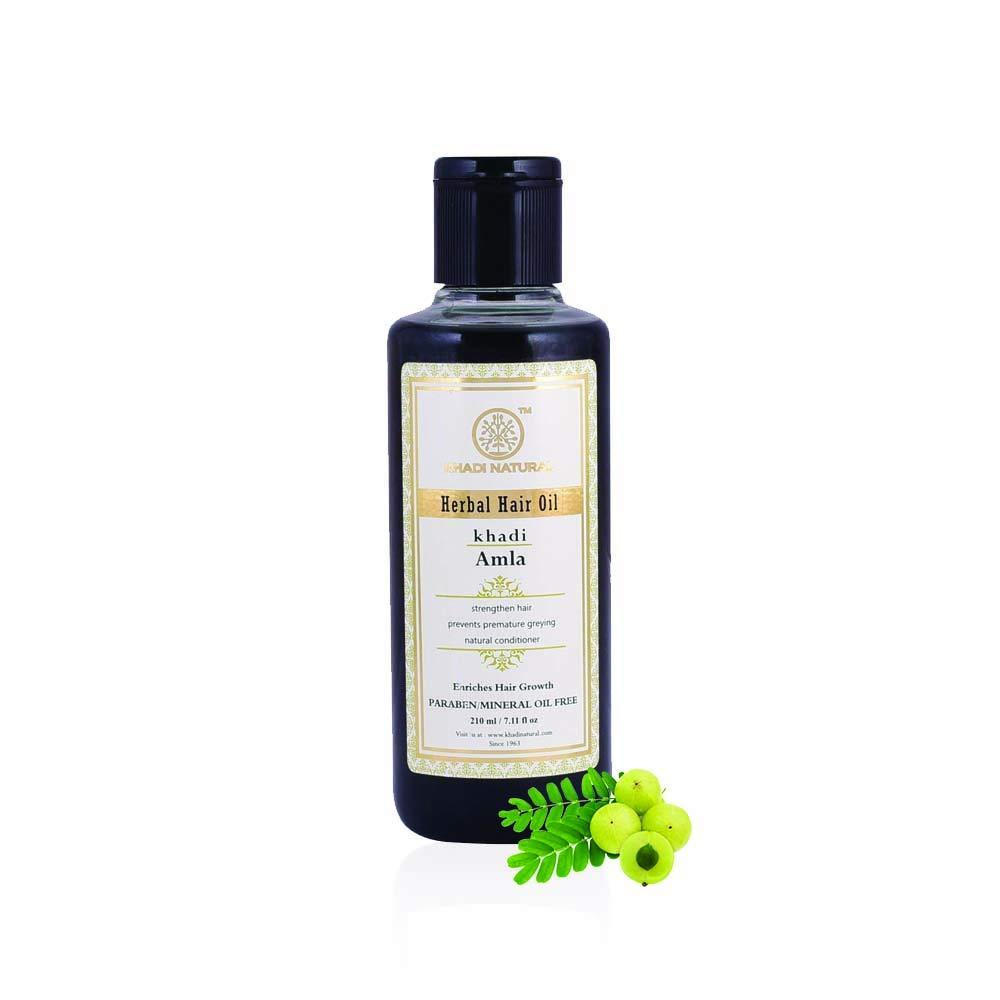 Khadi Natural Herbal Ayurvedic Amla Hair Oil (210 ml)