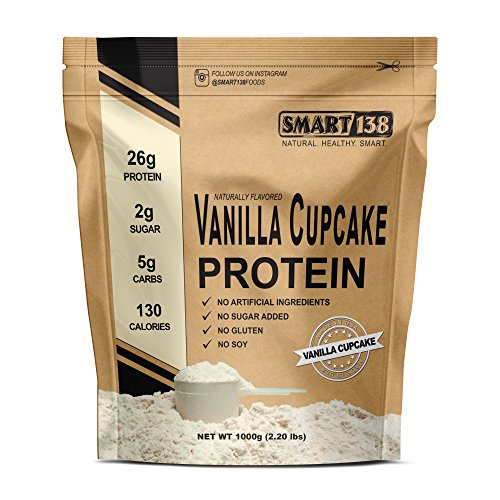 Vanille Cupcake Natural Protein Powder, Gluten-Free, Soy-Free, USA, Keto (Low Carb), Natural BCAAs (Vanilla Cake)