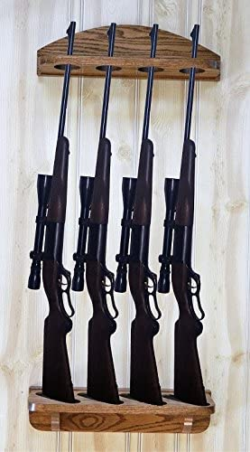 With hardware Gun rack 10-gun solid oak wood  finished