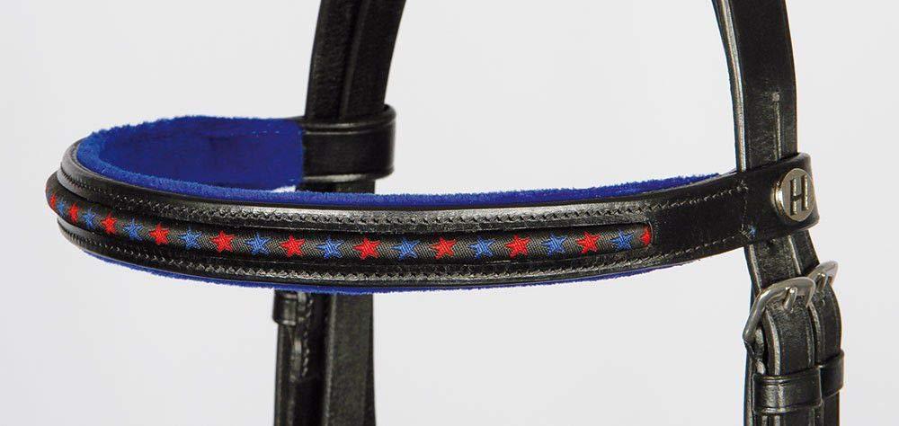 Shetty Leder schwarz Black Minishetty Harrys Horse Kombinierte Trense Stout