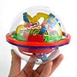 E-TECHING ABS Material 3D 100 Challenging Barriers Ball Maze Puzzles Toy,Christmas New year Gift for Kids