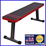 Fitness Maniac Flat Workout Bench Weight Exercise Lifting Press Leg Pull-In Abs Abdominal Training Home Gym