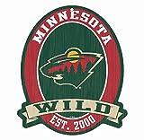 """Minnesota Wild Wood Street Sign 11X13"""" - NHL"""