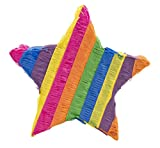 Star Pinata - Kids Birthday Party Supplies for Mexican Themed Party, Fiesta, Cinco de Mayo, Multicolored, 12.6 x 12.6 x 3 Inches