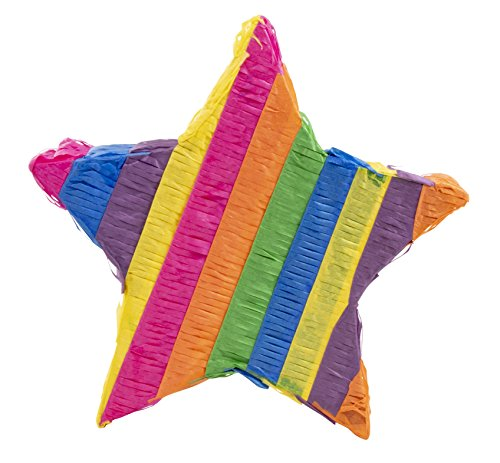 Star Pinata - Kids Birthday Party Supplies for Mexican Themed Party, Fiesta, Cinco de Mayo, Multicolored, 12.6 x 12.6 x 3 Inches by Blue Panda