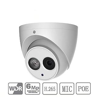 Dahua 6MP POE Dome Camera IPC-HDW4631C-A 2.8mm Built-in Mic H265 Eyeball Network Camera IP67 Outdoor ONVIF International Version
