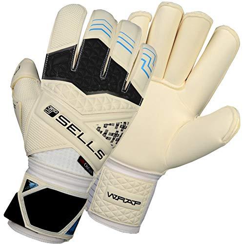 (Sells WRAP Elite Aqua Campione Junior Goalkeeper Gloves Size 7 White)