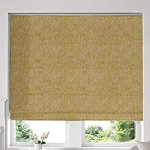 Blinds2Curtains Yellow 240H x 280W Cm Ainsley Sunshine Roman Window Blinds