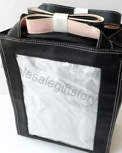 Mary Kay Black Purse Tote Bag Photo Picture Pocket Great for a Diaper Bag W Picture of Baby!
