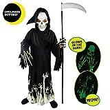Spooktacular Creations Grim Reaper Glow in the Dark Deluxe Phantom Costume for Child