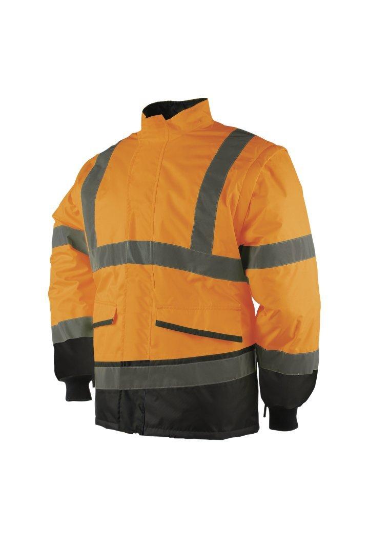 SIOEN 347AN2ES3062XL Malbro bomber chaqueta con mangas desmontables, XL, Hi-Vis naranja y azul marino