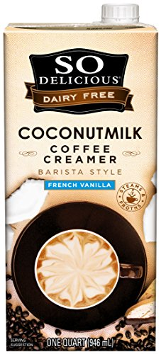 So Delicious Dairy-Free Coconutmilk Creamer, Vanilla Barista Style, 32 Ounce (Pack of 6) Plant-Based Vegan Coffee Creamer Alternative