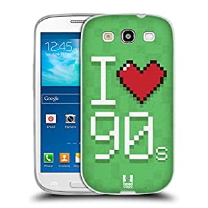 Head Case Designs Loved It Nostalgic 90s Soft Gel Back Case Cover for Samsung Galaxy S3 III I9300