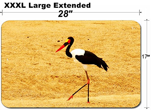 Billed Stork Saddle - MSD Large Table Mat Non-Slip Natural Rubber Desk Pads Image 22381432 Saddle Billed Stork