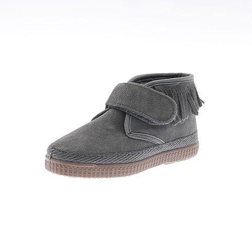 Natural World Zapatos Niña Botas Botines 524 Gris 25: Amazon.es: Zapatos y complementos