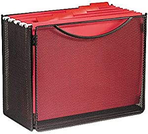 "Safco Products 2169BL Onyx Mesh Desktop Box File, 6"" Deep, Letter Size, Black"