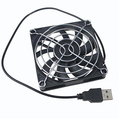 GDSTIME USB Connector 80mm x 80mm x 15mm DC 5V Power 3 Inch Brushless Cooling Fan by GDSTIME (Image #3)