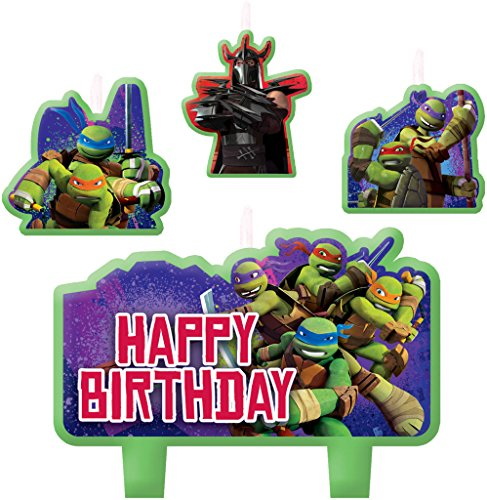 Amscan Teenage Mutant Ninja Turtles Candle Set -