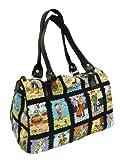 US Handmade Fashion LOTERIA CARTAS Latino Cultural Pattern Doctor Bag Satchel Style Handbag Purse Cotton fabric, DRB 1213