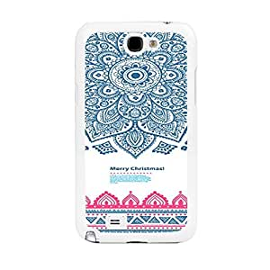Pretty Retro Flower Design Samsung Phone Case Cover for Samsung Galaxy Note 2 N7100 Floral Print Mobile Phone Case Skin (tribal pattern flower BY632)