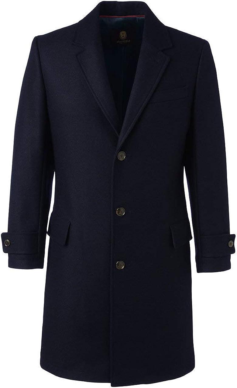 Lands End Mens Wool Overcoat